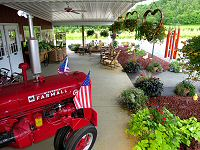 The porch of our Farm Market